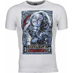 Kleidung Herren T-Shirts Local Fanatic Chucky Poster Print Weiß