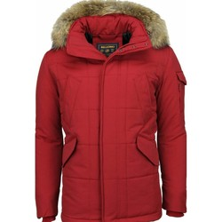 Kleidung Herren Parkas Beluomo Jacken Mit Fellkragen Winterjacken  Große Rot
