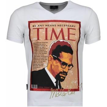Kleidung Herren T-Shirts Local Fanatic Malcolm X Weiß