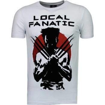 Kleidung Herren T-Shirts Local Fanatic Wolverine Flockprint Weiß