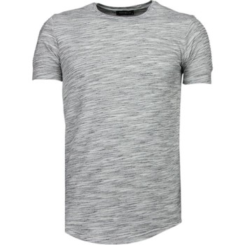 Kleidung Herren T-Shirts Tony Backer Ärmel Rippe Grau
