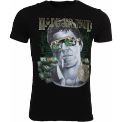 Kleidung Herren T-Shirts Local Fanatic Made To Get Paid Scarface Schwarz
