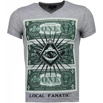 Kleidung Herren T-Shirts Local Fanatic One Dollar Eye Grau