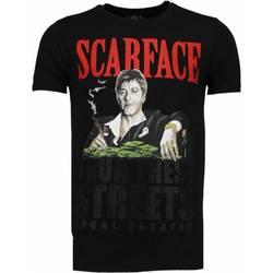 Kleidung Herren T-Shirts Local Fanatic Scarface Boss Strass Schwarz