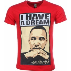 Kleidung Herren T-Shirts Local Fanatic Martin Luther King I Have A Dream Print Rot