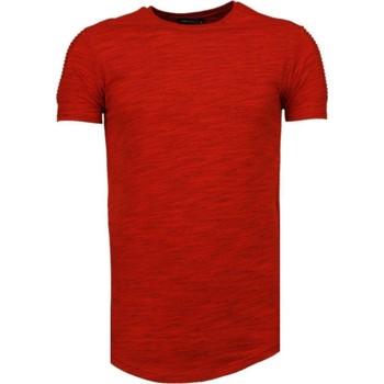 Kleidung Herren T-Shirts Tony Backer Ärmel Rippe Rot