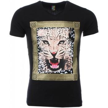 Kleidung Herren T-Shirts Local Fanatic Tiger Druck Schwarz