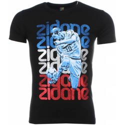 Kleidung Herren T-Shirts Local Fanatic Zidane Print Schwarz
