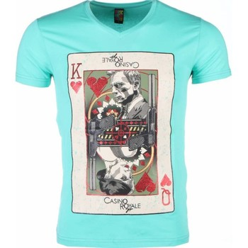 Kleidung Herren T-Shirts Local Fanatic James Bond Casino Royale Print Grun Türkis