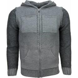 Kleidung Herren Strickjacken Enos Sweatjacke Wolle Grau