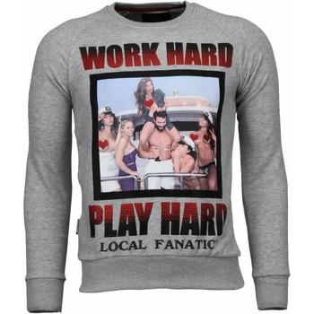 Kleidung Herren Sweatshirts Local Fanatic Bilzerian Strass Grau