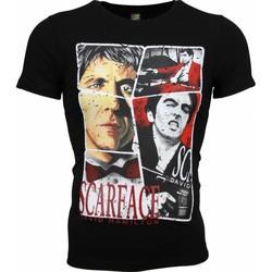 Kleidung Herren T-Shirts Local Fanatic Scarface Frame Print Schwarz