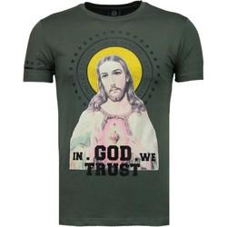 Kleidung Herren T-Shirts Local Fanatic Jesus Strass Grün
