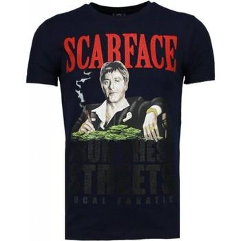 Kleidung Herren T-Shirts Local Fanatic Scarface Boss Strass Blau