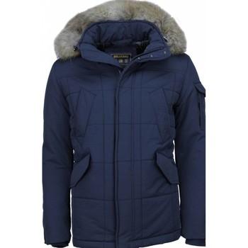 Kleidung Herren Parkas Beluomo Jacken Mit Fellkragen Winterjacken  Große Blau