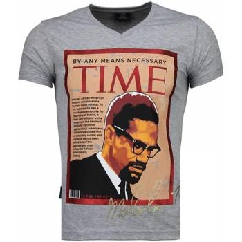 Kleidung Herren T-Shirts Local Fanatic Malcolm X Grau