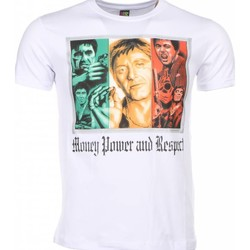 Kleidung Herren T-Shirts Local Fanatic Scarface Money Power Respect Print Weiß