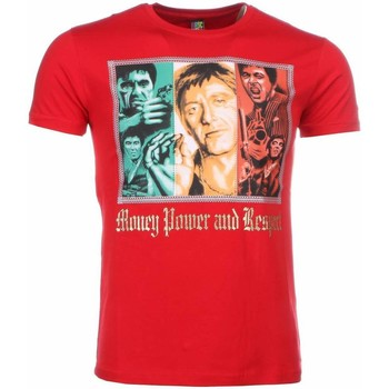 Kleidung Herren T-Shirts Local Fanatic Scarface Money Power Respect Print Rot