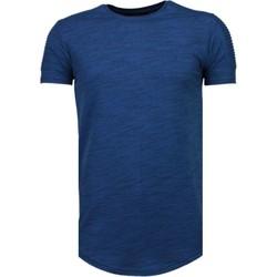 Kleidung Herren T-Shirts Tony Backer Ärmel Rippe Blau
