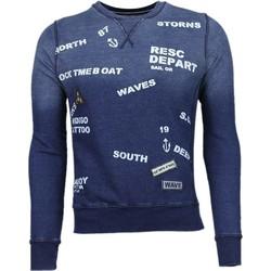 Kleidung Herren Sweatshirts Bb Bread & Buttons Crew Text Stickerei Blau