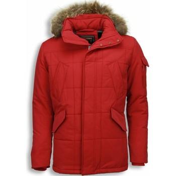 Kleidung Herren Parkas Beluomo Jacken Mit Fellkragen Winterjacken  Kleine Rot