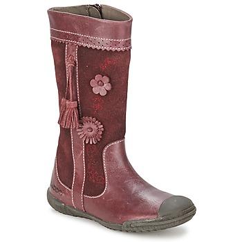 Schuhe Mädchen Klassische Stiefel Mod'8 KLAN Bordeaux