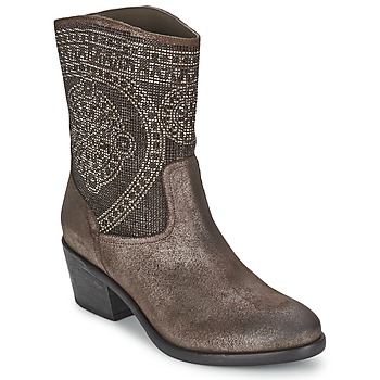 Schuhe Damen Low Boots Now PIOMBO Grau