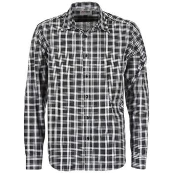 Kleidung Herren Langärmelige Hemden Yurban FLENOTE Schwarz / Weiss