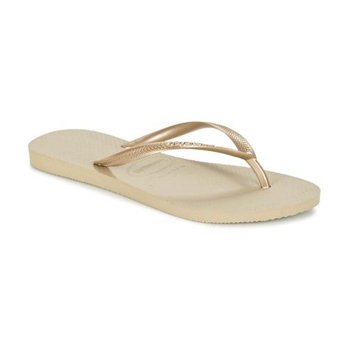 Schuhe Damen Zehensandalen Havaianas SLIM Gold