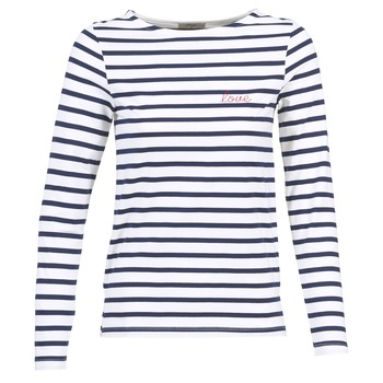 Kleidung Damen Langarmshirts Betty London IFLIGEME Weiss / Blau