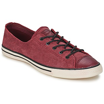 Schuhe Damen Sneaker Low Converse Chuck Taylor All Star FANCY LEATHER OX Bordeaux