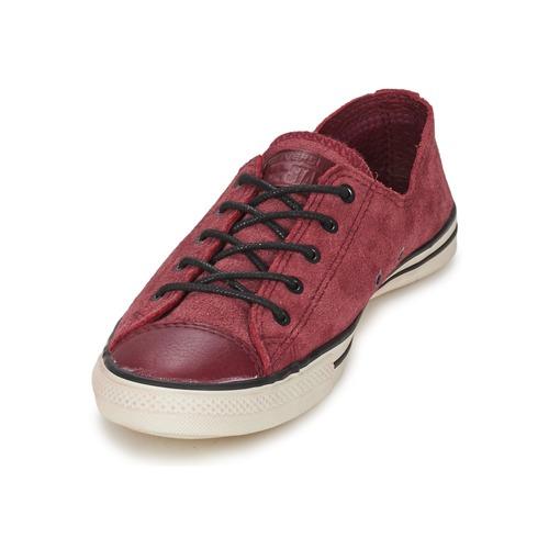 Converse Chuck Taylor All Star FANCY LEATHER OX Bordeaux Schuhe Sneaker Low Damen 42,50