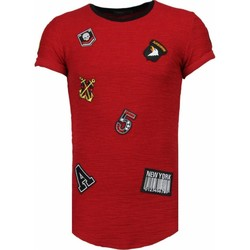 Kleidung Herren T-Shirts Justing Military Patches No. Rot