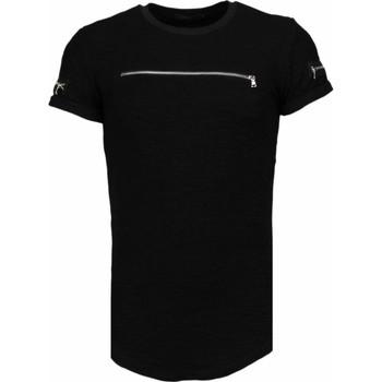 Kleidung Herren T-Shirts Justing Zipped Chest Schwarz