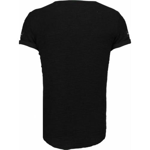 Justing Zipped Chest Schwarz - Kleidung T-Shirts Herren 6499 uad0y
