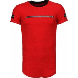 Kleidung Herren T-Shirts Justing Zipped Chest Rot