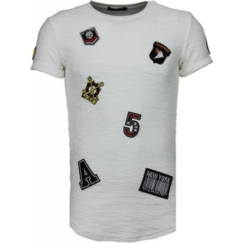 Kleidung Herren T-Shirts Justing Military Patches No. Weiß