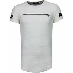 Kleidung Herren T-Shirts Justing Zipped Chest Weiß