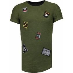 Kleidung Herren T-Shirts Justing Military Patches No. Grün
