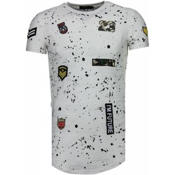 Kleidung Herren T-Shirts Justing Military Patches Weiß