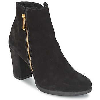 Schuhe Damen Low Boots Café Noir TAIBI Schwarz