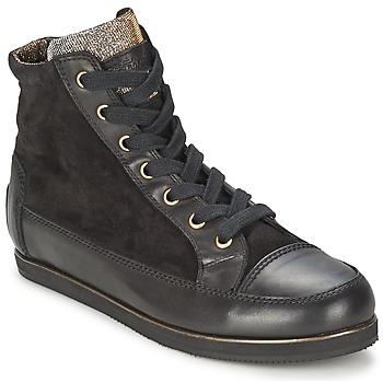 Schuhe Damen Sneaker High Tosca Blu BANGKOK Schwarz