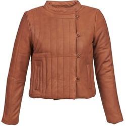 Kleidung Damen Lederjacken / Kunstlederjacken Antik Batik YOANN Cognac