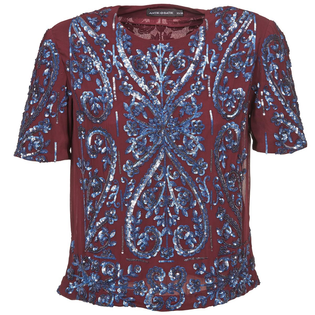 Blusen Antik Batik NIAOULI Bordeaux