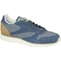 Schuhe Herren Sneaker Low Reebok Sport CL Leather Fleck Blau