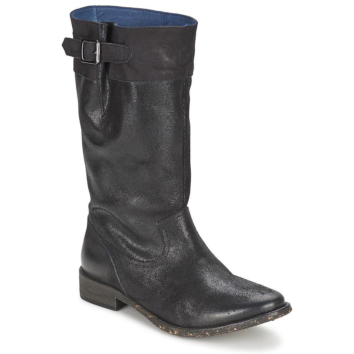 Schmoove SANDINISTA BOOTS Schwarz / Mettalfarben - Kostenloser Versand bei Spartoode ! - Schuhe Klassische Stiefel Damen 99,50 €