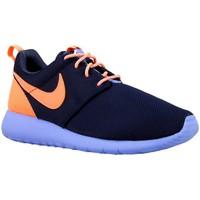 Schuhe Jungen Sneaker Low Nike Roshe One GS Violett-Orangefarbig-Dunkelblau