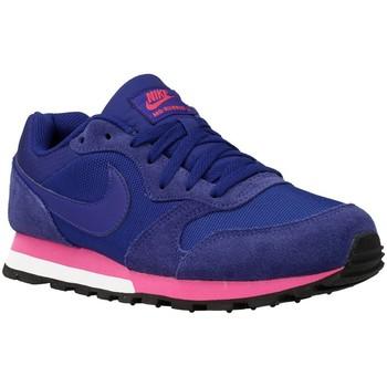 Schuhe Damen Sneaker Low Nike MD Runner Violett-Blau-Rosa