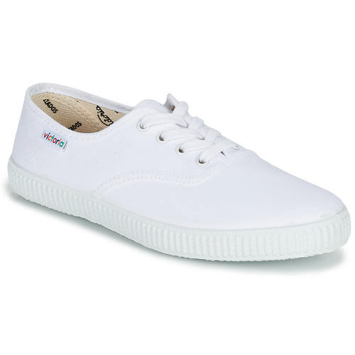 Schuhe Sneaker Low Victoria INGLESA LONA Weiss