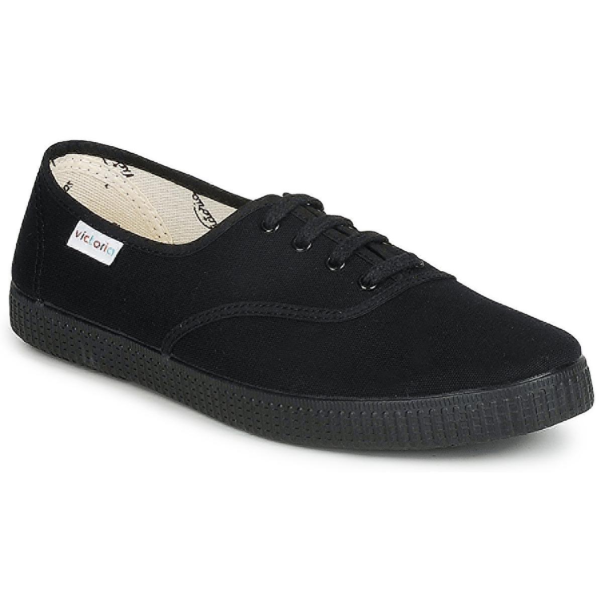 Victoria INGLESA LONA PISO Schwarz - Kostenloser Versand bei Spartoode ! - Schuhe Sneaker Low  23,20 €